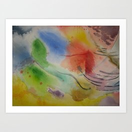 Watercolor Rhapsody Art Print