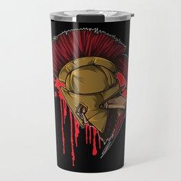 Spartan Warrior   Sparta Head Fighter Spartiate Travel Mug