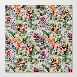 Wild Succulent Flowering Canvas Print
