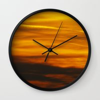 witchcraft Wall Clocks featuring Suburban Witchcraft by Oloriel