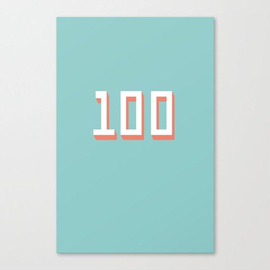The 100 Canvas Print