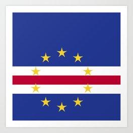 Cape Verde flag emblem Art Print