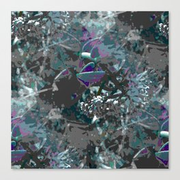Forest first frost floral camouflage Canvas Print