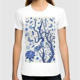 Blue flora T-shirt