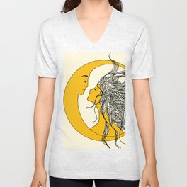 Sun and Moon Unisex V-Neck