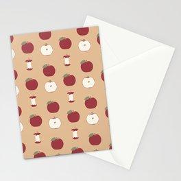 Red Apple - Mocha Pattern Stationery Cards