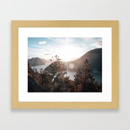 View of the Lago Lacar Framed Art Print