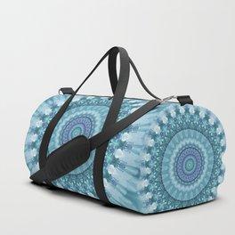 Turquoise and Navy Mandala Duffle Bag