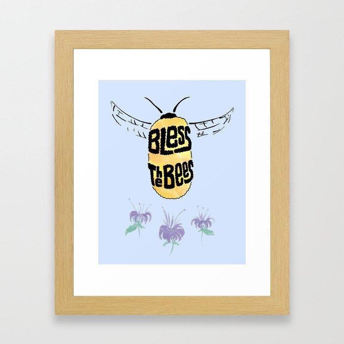 Bless the Bees Framed Art Print