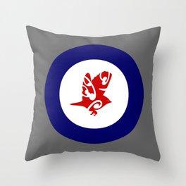 Silvereye Air Force Roundel Throw Pillow