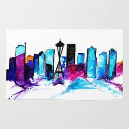 Seattle Washington Skyline Rug