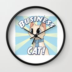 Business Cat! Wall Clock