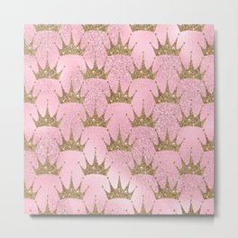 Royal Mermaid Crown Metal Print