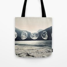Moonlight Mountains Tote Bag