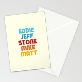 Eddie Jeff Stone Mike Matt Stationery Cards