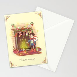 Take the Floo To Santa's Workshop! Stationery Cards