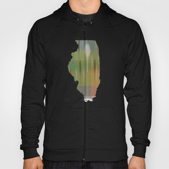 illinois state map Hoody