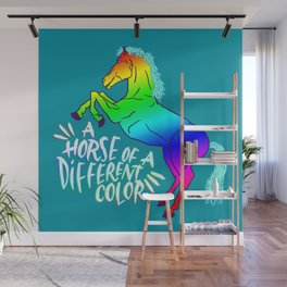 Horse of a Different Color Wall Mural