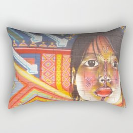 Continental Summit of Indigenous Peoples Mural Rectangular Pillow