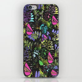 Quirky Patches by Enkhzaya Enkhtuvshin iPhone Skin