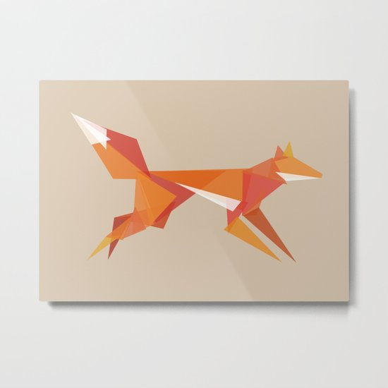 Fractal geometric fox Metal Print
