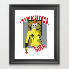 Punk rock Girl Framed Art Print