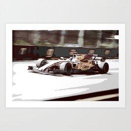 Circuit racecar Art Print