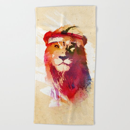 Gym Lion Beach Towel