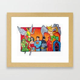 Watch Them As They Go Framed Art Print