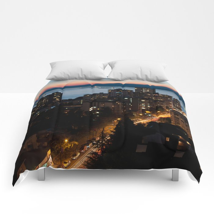 English Bay Sunset Comforters