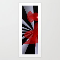 red white black -20- Art Print