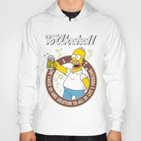 simpson Hoodies featuring To Alcohol! Homer Simpson by sgrunfo