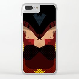 A red-haired woman - Abstrac37 Clear iPhone Case