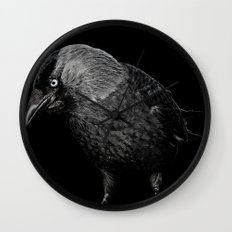 crow Wall Clock
