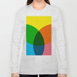 rgb flower Long Sleeve T-shirt