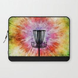 Tie Dye Disc Golf Basket Laptop Sleeve