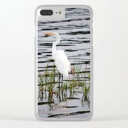 Egret Patiently Waiting Clear iPhone Case