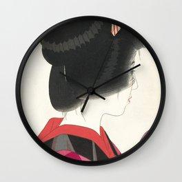 Red Collar by Yamakawa Shuho, 1928 Wall Clock