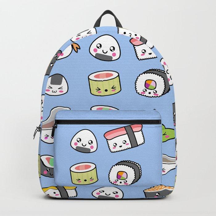 Happy kawaii sushi pattern Backpack