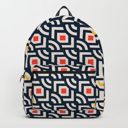 Round Pegs Square Pegs Navy Blue Backpack