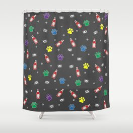 Envelope Ketchup Paw Shower Curtain