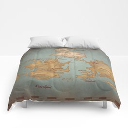 Gaia World Map- Final Fantasy VII Comforters