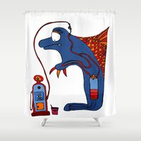 dolphin Shower Curtains featuring Dolphin by JBLITTLEMONSTERS