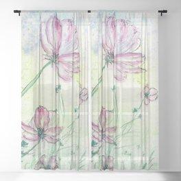Blossoms and Air Sheer Curtain