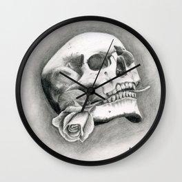 Skull & Rose Wall Clock