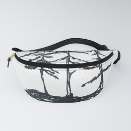 THE THREE SISTERS Black and White Fanny Pack