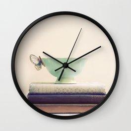 Tea & Books Wall Clock