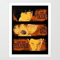The good The bad and The strange Art Print