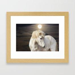 Moonlight Horse Framed Art Print
