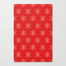 Seamless pattern with snowflakes Canvas Print